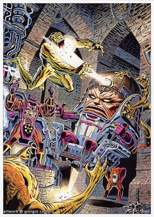 M.O.D.O.K. VS. ARNIM ZOLA commission Comic Art