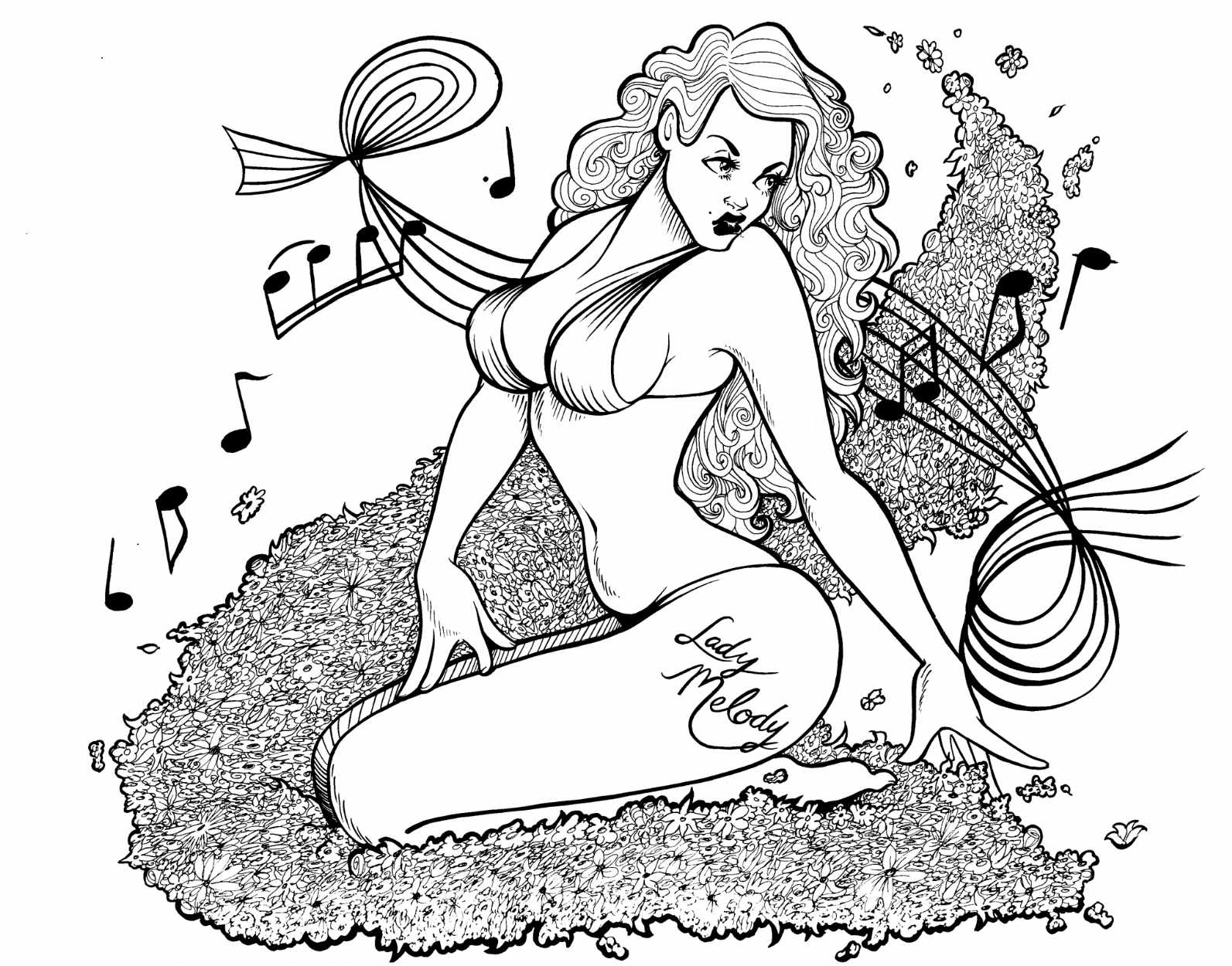 Tattoo pin up girl design 0