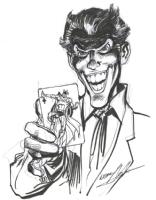 Neal Adams - Joker and Batman sketch Comic Art