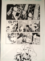 Secret Six 6 pg 21 Great Team page with Scandal, Deadshot, Catman, Knockout, and Rag Doll Comic Art
