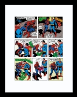 Superman versus the Amazing Spider-man pg 58. Color production transparency. Comic Art