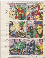 Mister Miracle 17 pg 20. Mister Miracle versus Lashina and the Furies. Color Guide. Comic Art