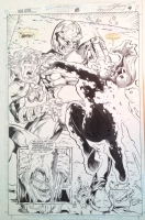 New Gods 8 pg 9. Darkseid kills Highfather's wife Avia Comic Art