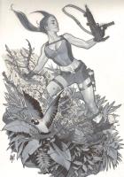 Lara Croft, Tomb Raider by Adam Hughes Comic Art