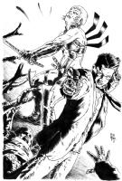 Zealot & Gumshoe vs. Zombies Comic Art
