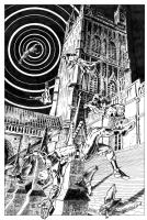 Acrobat Daredevil Comic Art