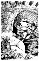 Batman & Poison Ivy, Tunnel of Love Comic Art