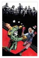 Uncle Sam vs. Capt. Nazi, with Freedom Fighters Comic Art