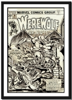 Werewolf By Night #34 (1975) cover by Gil Kane & Tom Palmer Comic Art