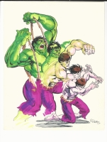 Hulk Transformation Sketch Comic Art