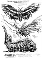 MOTHRA surrogate from 1987 Dark Horse GODZILLA project prep..., Comic Art