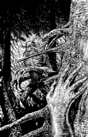 BOG: SWAMP DEMON #4 Original Cover Art, Comic Art
