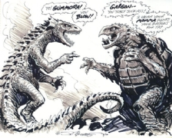 Gargon vs Gummora!, Comic Art