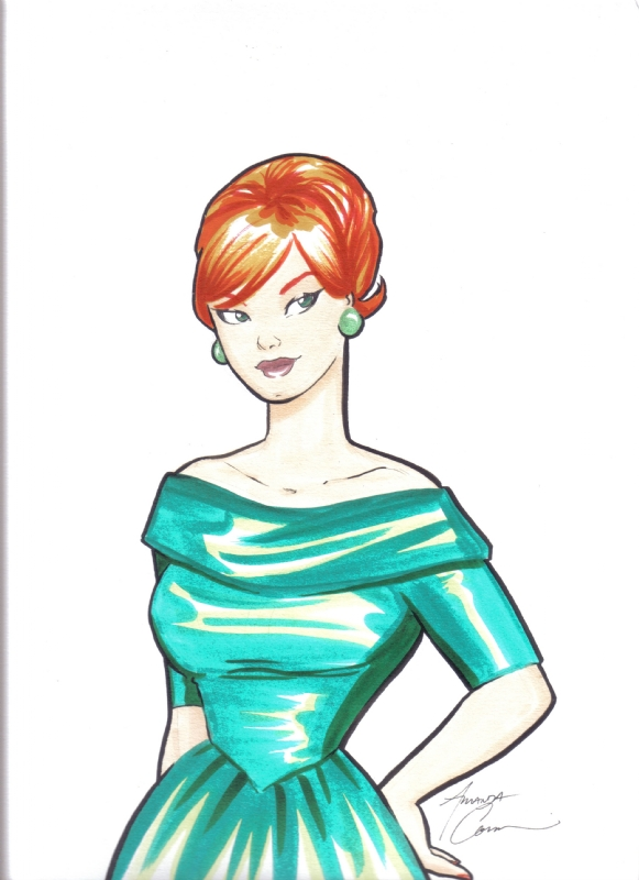Joan Holloway from Mad Men by Amanda Conner Comic Art