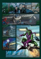 Spidey vs Goblin 2 Comic Art