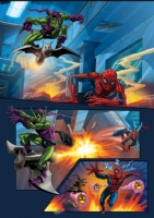 Spidey vs Goblin 3 Comic Art