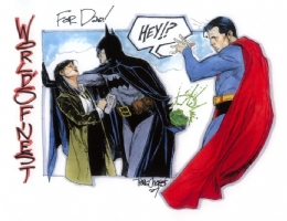 World's Finest by Travis Charest Comic Art