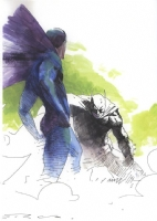The Dark Knight Falls  by Esad Ribic Comic Art