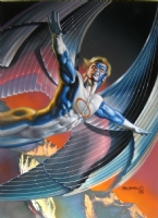 Boris Vallejo - Archangel - Trading card art Marvel Masterpieces 1996 series 5 Comic Art