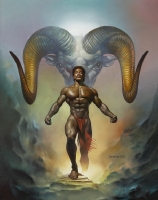 Boris Vallejo - Aries - Interior 1988 Boris Vallejo Zodiac Calendar Comic Art
