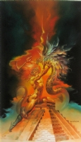 Boris Vallejo - Centrepiece and Back Cover of 1985 Boris Vallejo Fantasy Calendar Comic Art