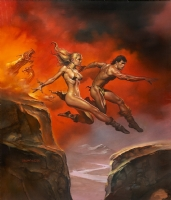 Boris Vallejo - Cover of 1987 Boris Vallejo Fantasy Olympics Calendar Comic Art