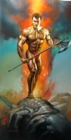 Boris Vallejo - Centrepiece of 1994 Boris Vallejo Mythology Calendar Comic Art