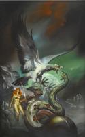 Boris Vallejo - Cover of Red Sonja 5 - Cover 1985 Boris Vallejo Fantasy Calendar Comic Art