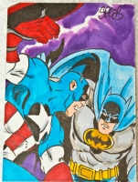 Batman Vs. Captain America Comic Art