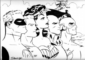 Darwyn Cooke - Wonder Woman & Justice Leaue Comic Art