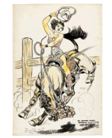 H. G. Peter Wonder Woman Cowboy Comic Art