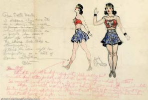 Earliest Known Wonder Woman Design - H. G. Peter Comic Art