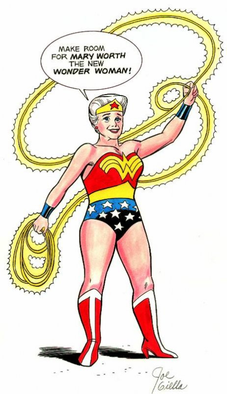 Mary Worth is Wonder Woman - Joe Giella Comic Art