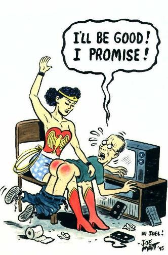 Joe Matt meets Spanking Wonder Woman Comic Art