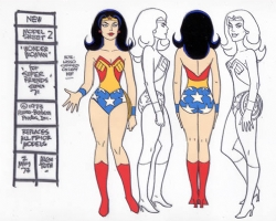 Superfriends Animation Cel model sheet - Alex Toth Comic Art