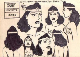 Alex Toth - Wonder Woman Model Sheet  Comic Art