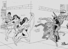 Dick Giordano - Wonder Woman Storybook page Comic Art