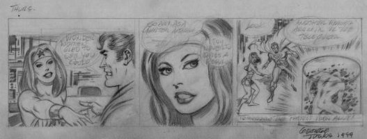 World's Greatest Super-Heros unpublished daily strip Comic Art