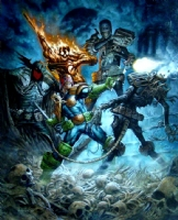Judge Dredd vs The Dark Judges Comic Art