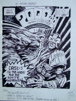 2000AD: Prog 723 Cover Rough Comic Art
