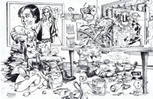 Matthew Weldon - Transmetropolitan All Around the World Comic Art