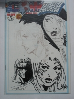 thecow 2000 ching,bentiez,tan,cha head sketches Comic Art
