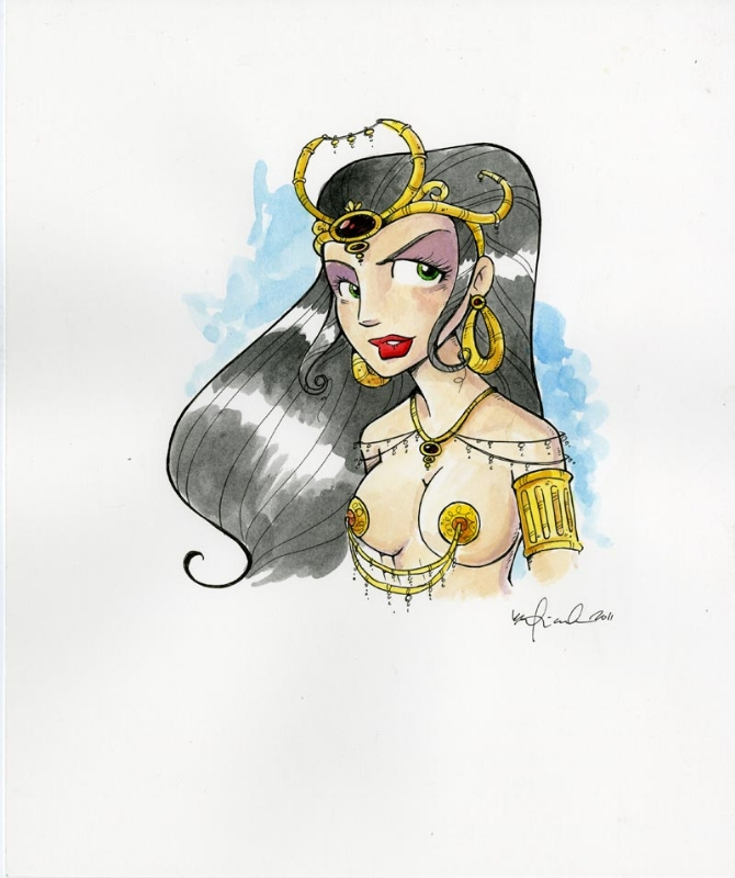 Dejah Thoris by Katie Cook Comic Art