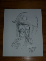 Joe Kubert Original Sgt Rock Commissioned Drawing Comic Art