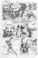 Barry Windsor-Smith Machine Man #3 pg. 19 Comic Art