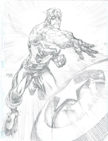 Captain America DPS - Freddie Williams Comic Art