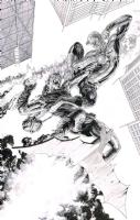 Spider-Man vs Green Goblin - Tony Parker  Comic Art