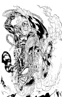 Ghost Rider INKED - Kevin Sharpe Comic Art