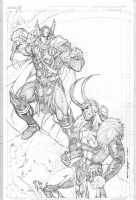 Thor Loki  -  Kevin Sharpe Comic Art