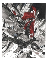 Batman Vs The Red Hood Thony Silas Comic Art